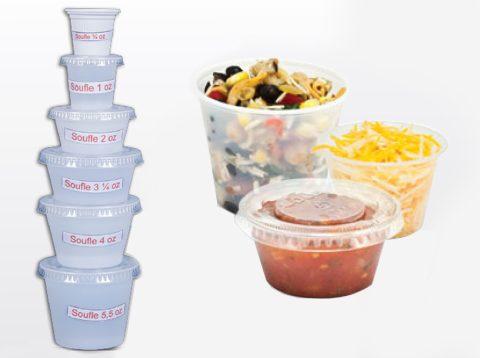 Contenedores Souffle Plásticos