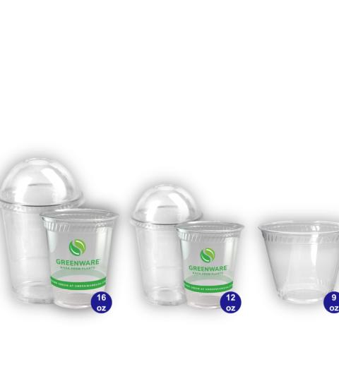 Vasos De PLA Transparente